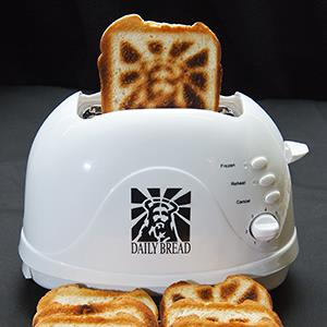 The 'Jesus Toaster' made by Burnt Impressions © Paul J. Richards/AFP/Getty Images